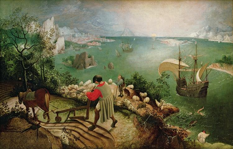 The fall of icarus bruegel