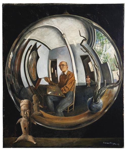 Self-Portrait in a Crystal Ball, 1953 - Roberto Montenegro