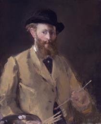 Autoritratto con una tavolozza - Edouard Manet