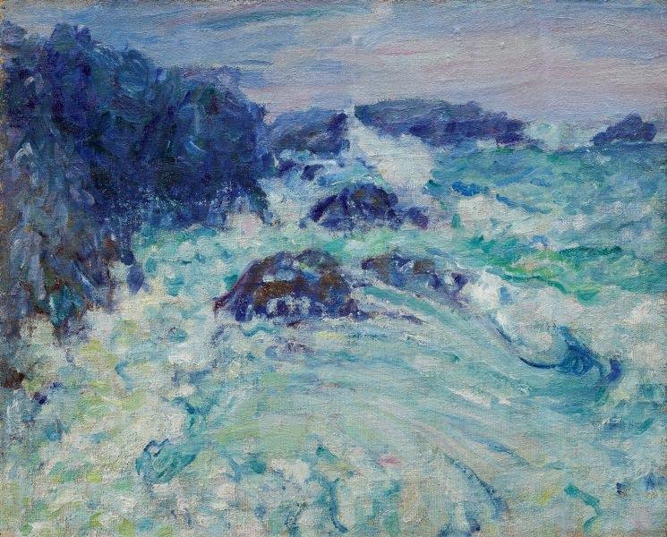 Rough sea, Morestil, c.1900 - John Peter Russell