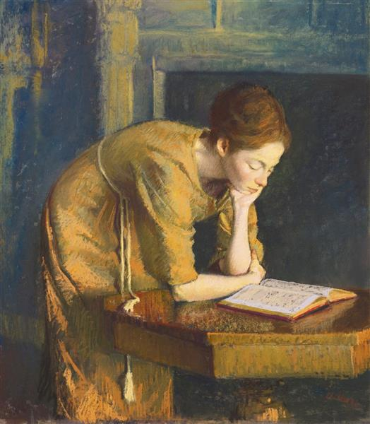 Woman Reading (The Artist's Wife), 1962 - Aaron Shikler