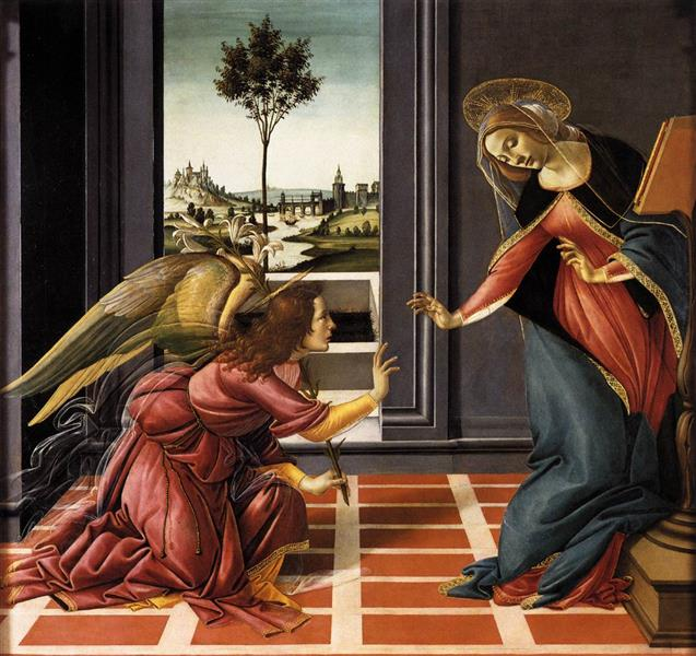 The Cestello Annunciation, c.1489 - Sandro Botticelli