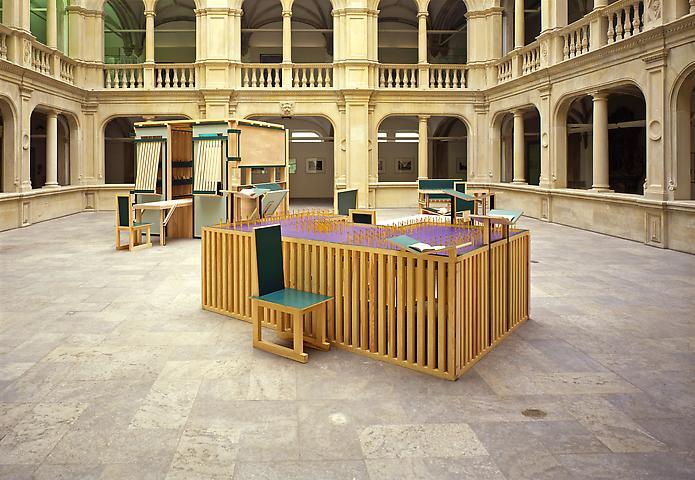 Sacco and Vanzetti Reading Room No. 1, 1987 - 1994 - Siah Armajani