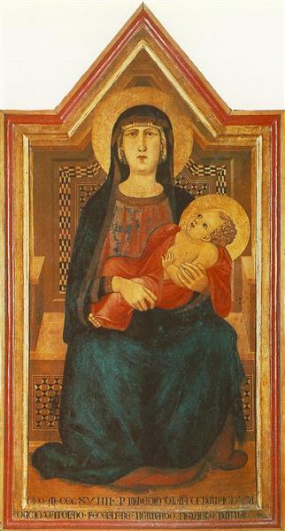 Madonna of Vico L'Abate - Ambrogio Lorenzetti
