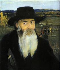 Old Teacher. Portrait of Mykola Murashko - Oleksandr Muraschko