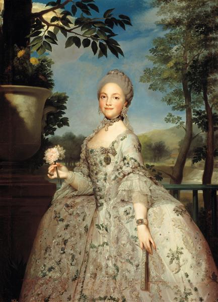 María Luisa of Parma, Princess of Asturias, 1765 - Anton Raphael Mengs