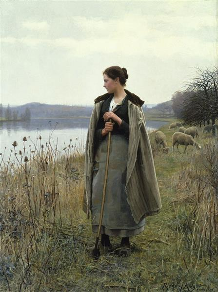 The Shepherdess of Rolleboise, 1896 - Daniel Ridgway Knight