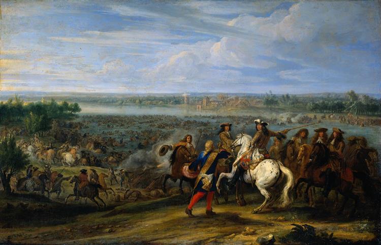 Le passage du Rhin, 1672 - Adam Frans van der Meulen