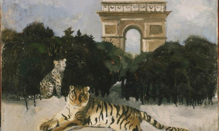 Tiger and Arc De Triomphe, 1930 - Christopher Wood