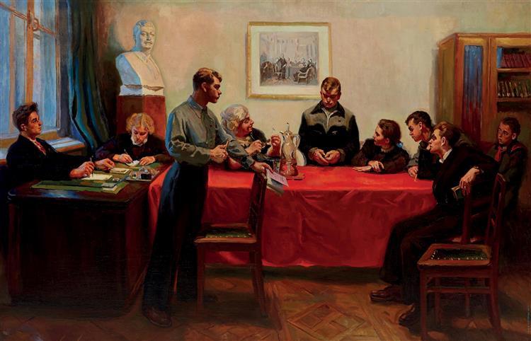 Discussion of a Bad Grade, 1950 - Sergiy Grigoriev