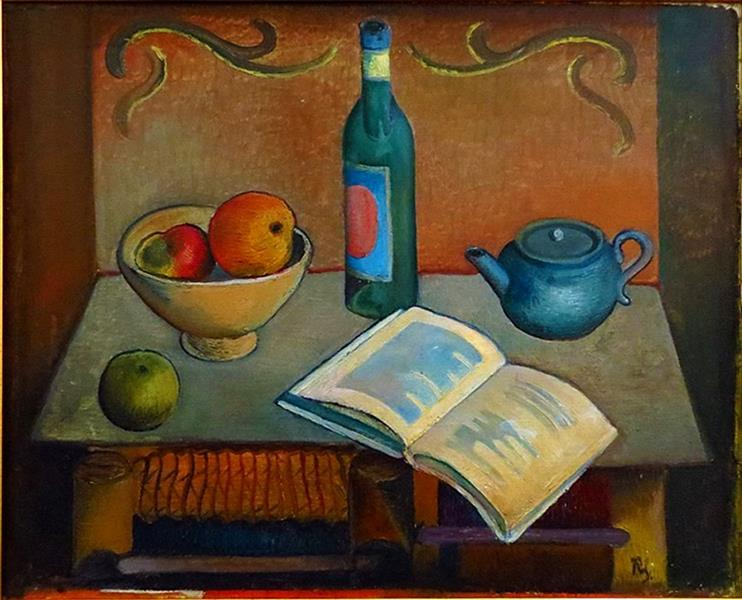 Still Life with Book, 1926 - Roman Selsky - WikiArt.org