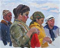 Portrait of Artist's Wife - Viktor Shatalin