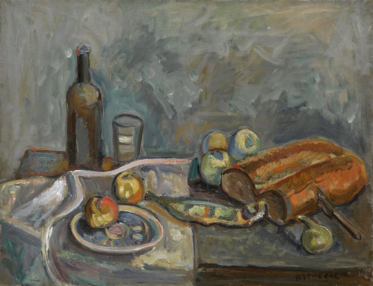 Still Life with Bread - Pinchus Krémègne