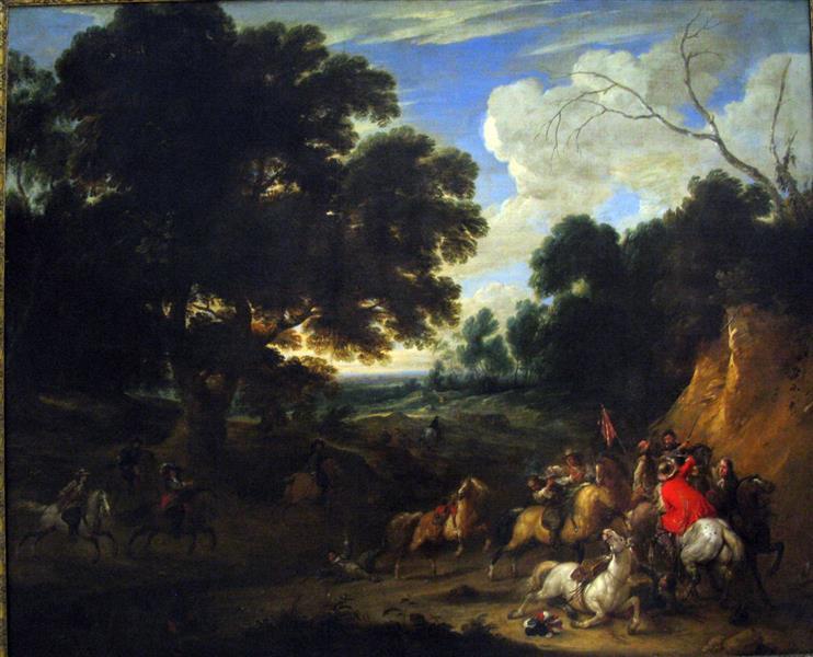 Battle Scene - Adam van der Meulen