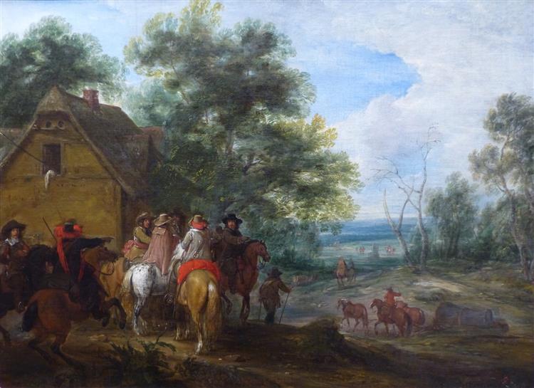 Halte De Cavaliers, 1660 - Adam Frans van der Meulen