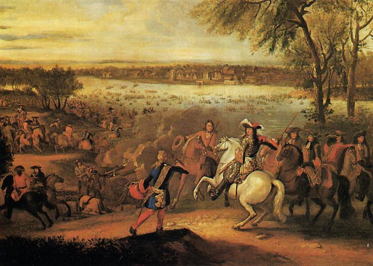 Louis Xiv Passing the Rhine, 1672 - Adam van der Meulen
