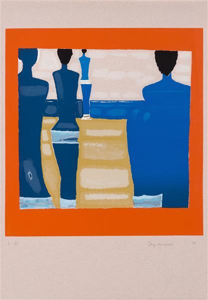 Untitled (Blue women), 1995 - Jerzy Nowosielski