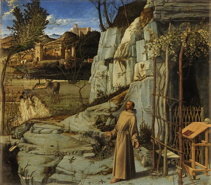 San Francisco en éxtasis, 1480 - 1485 - Giovanni Bellini