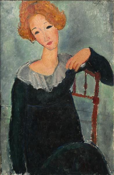 Woman with red hair, 1917 - Amedeo Modigliani