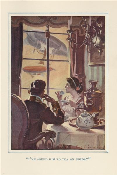 I've Asked Him to Tea on Friday - Frank Xavier Leyendecker