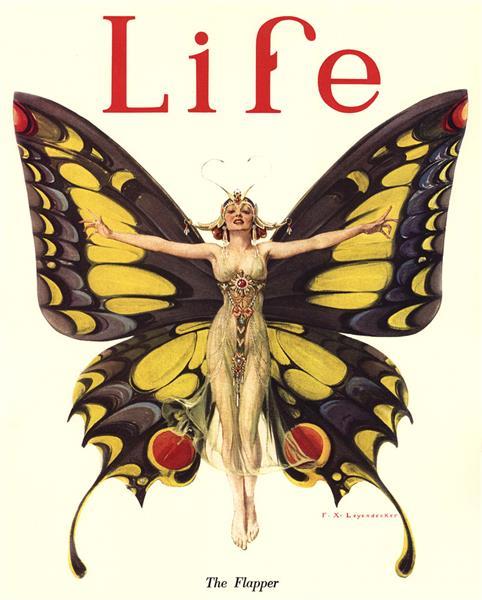 """The Flapper"" Life Magazine Cover, 1922 - Frank Xavier Leyendecker"