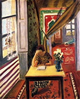 Reader Leaning Her Elbow on the Table - Henri Matisse