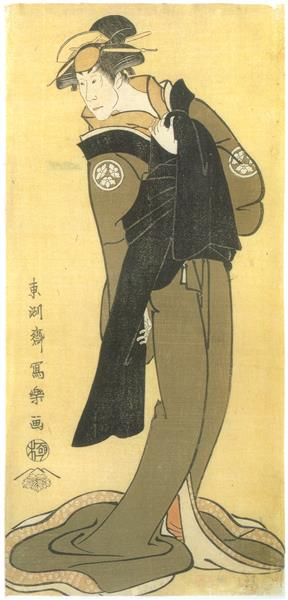 Osagawa Tsuneyo II as Okinu, wife of Chōemon, 1794 - Tōshūsai Sharaku