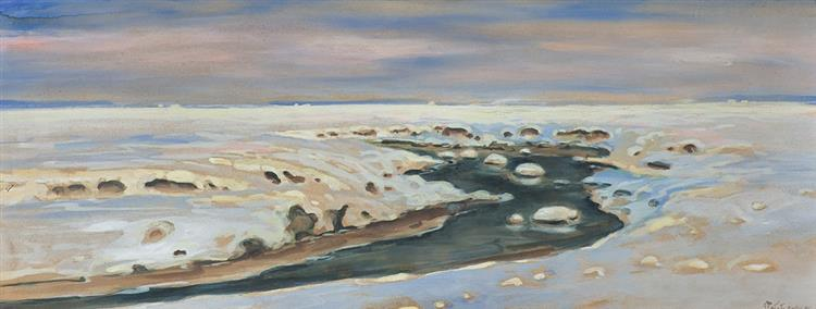 River Among Snow, 1917 - Julian Fałat
