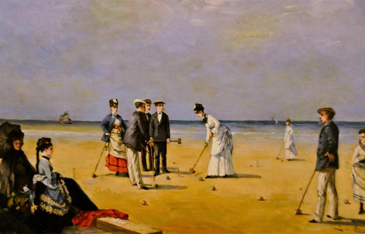 A Game of Croquet, 1872 - Луиза Аббема