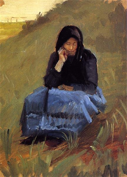 Figure Study for 'The Mission Meeting', c.1903 - Anna Ancher