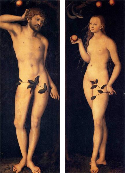 Adam and Eve, 1528 - Lucas Cranach the Elder