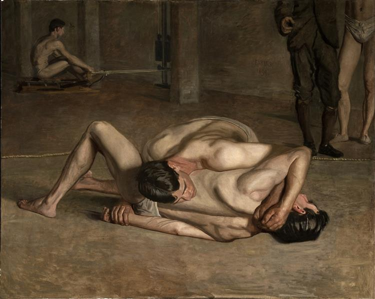 The Wrestlers, 1899 - Thomas Eakins