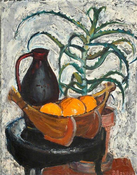 Still Life with Oranges and Agave - Dora Boneva