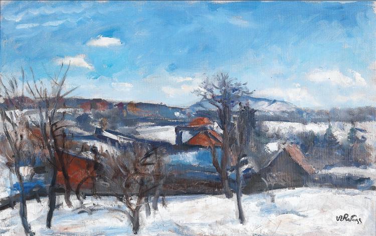 Winter Landscape in Kalwaria - Wojciech Weiss