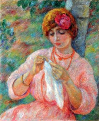 Portrait De Madm Marty Bonnard, 1910 - Józef Pankiewicz