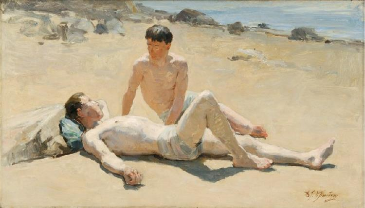 À La Plage, 1900 - Alexandre-Jacques Chantron