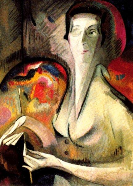 Self-portrait, 1917 - Alice Bailly