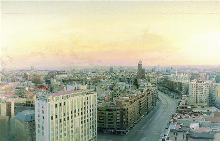View of Madrid from Torres Blancas, 1982 - Antonio Lopez Garcia