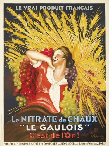 Nitrate De Chaux Le Gaulois, 1927 - Leonetto Cappiello