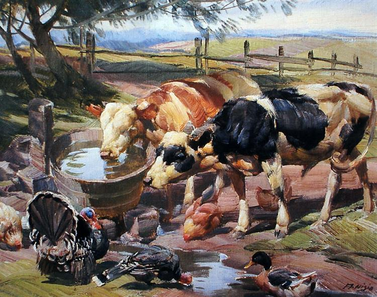animals at the water fountain - Arthur Nísio