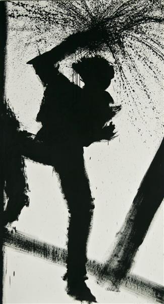 Jumping Shadow, 1987, 1987 - Richard Hambleton