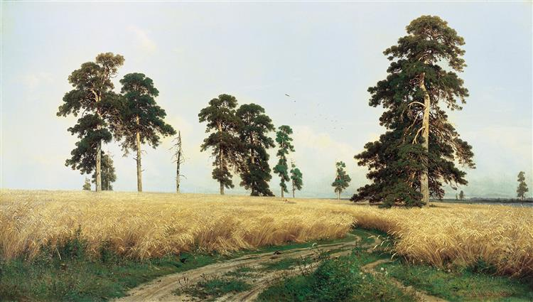 A Rye Field, 1878 - Iván Shishkin