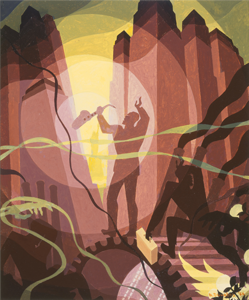 Song of the Towers, 1934 - Aaron Douglas