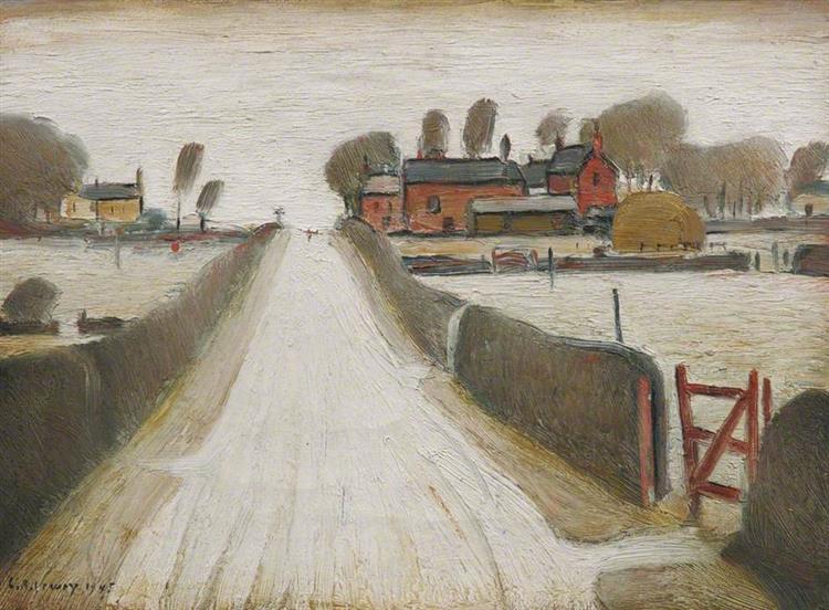 Fylde Farm, 1945 - LS Lowry