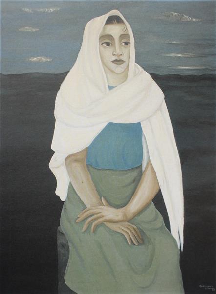 Rebozo Balnco, 1943 - Manuel Rodríguez Lozano
