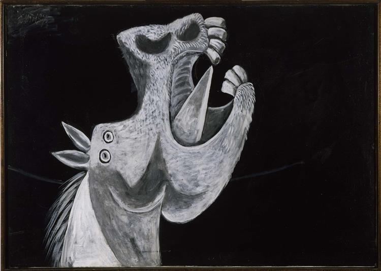 "Horse Head. Sketch for ""Guernica"", 1937 - Pablo Picasso"