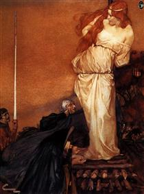 How Sir Launcelot and His Kinsmen Rescued the Queen from the Fire - William Russell Flint