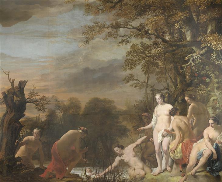 Farao's Dochter Vindt Mozes in Het Biezen Mandje., 1669 - Фердинанд Боль