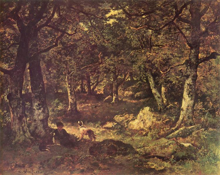 In the woods - Narcisse-Virgile Díaz de la Peña