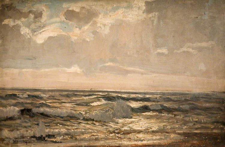 Break in the Storm, 1917 - Algernon Talmage